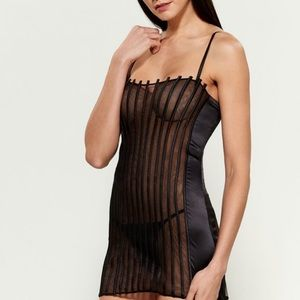 La Perla Graphique couture silk slip with panty
